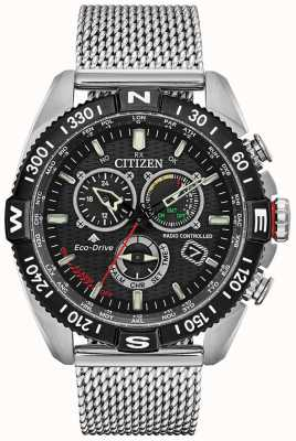 Citizen Mens Promaster Navihawk Radio Controlled A.T Chrono Black Dial CB5840-59E
