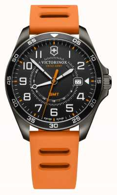 Victorinox Swiss Army FieldForce Sport GMT | 42mm | Orange Rubber Strap | 241897