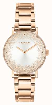 Coach Women's Perry | Rose Gold Steel Bracelet | Silver Dial 14503639