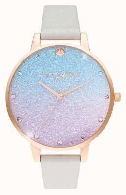 Olivia Burton Women's Glitter Ombre Demi Dial | Pearl Shimmer Strap OB16US47