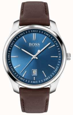 BOSS Circuit Sport Lux | Brown Leather Strap | Blue Dial 1513728