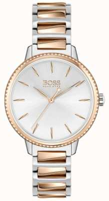 BOSS Women's Signature | Two-Tone Steel Bracelet | Silver Dial 1502567
