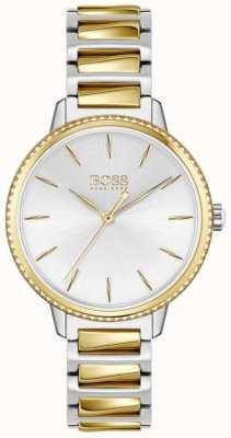 BOSS Women's Signature | Two-Tone Steel Bracelet | Silver Dial 1502568