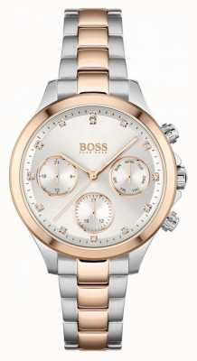 BOSS Women's Hera | Two-Tone Steel Bracelet | Silver Dial 1502564