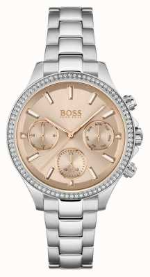 BOSS Women's Hera | Stainless Steel Bracelet | Rose Dial 1502565