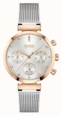 BOSS Women's Flawless | Steel Mesh Bracelet | Silver Dial 1502551