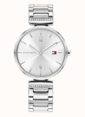 Tommy Hilfiger Women's Aria | Stainless Steel Silver Bracelet | Silver Dial 1782273