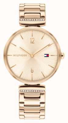 Tommy Hilfiger Women's Aria | Rose Gold Steel Bracelet | Rose Gold Dial 1782271
