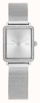 Tommy Hilfiger Women's Tea | Steel Mesh Bracelet | Silver Square Dial | 1782294