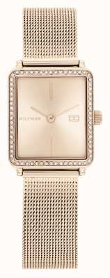 Tommy Hilfiger | Women's | Tea | Rose Gold Mesh Strap | Rose Square Dial | 1782293