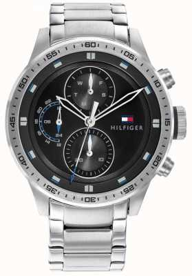 Tommy Hilfiger Men's Trent | Stainless Steel Bracelet | Black Dial 1791805