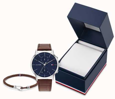 Tommy Hilfiger Men's Easton Gift Set | Watch And Leather Bracelet 2770095
