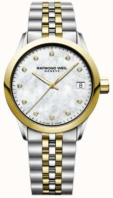 Raymond Weil Women's | Freelancer | Diamond | Mother Of Pearl | Two Tone 5634-STP-97081