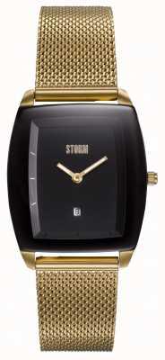 STORM Mini Zaire Gold Black | Gold Mesh Bracelet | Black Dial 47474/GD/BK