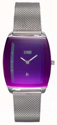 STORM Mini Zaire Lazer Purple | Steel Mesh Bracelet | Purple Dial 47474/P