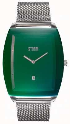 STORM Zaire Lazer Green | Steel Mesh Bracelet | Green Dial 47478/G