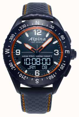 Alpina AlpinerX Smartwatch Navy Blue Leather Strap AL-283LNO5NAQ6L