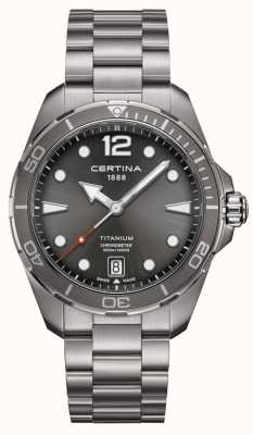Certina DS Action | Titanium Bracelet | Grey Dial | COSC C0324514408700