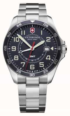 Victorinox Swiss Army |Men's FieldForce GMT | Stainless Steel Bracelet | Blue Dial 241896