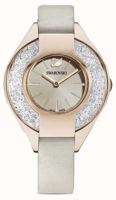 Swarovski Crystalline Sporty | Grey Leather Strap | Champagne Dial 5547976