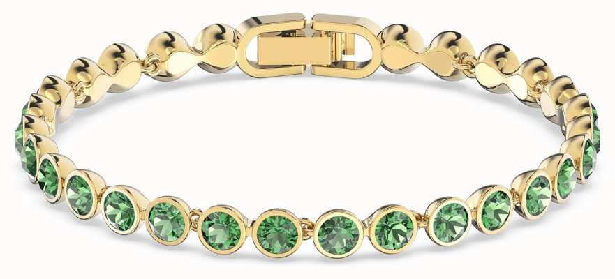 Swarovski Tennis | Gold-Tone Plated | Green | Bracelet 5555824