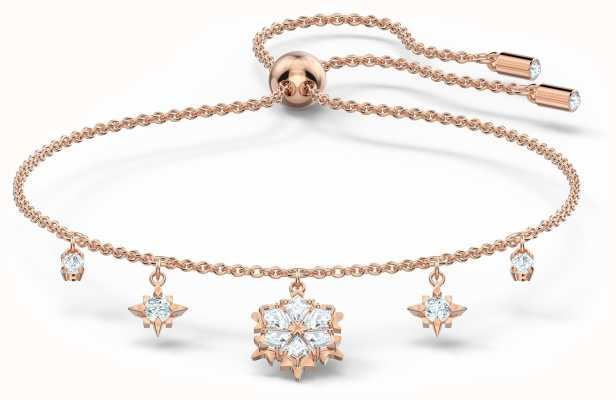 Swarovski Magic | Rose-Gold Plated | White | Snowflake | Bracelet 5558186