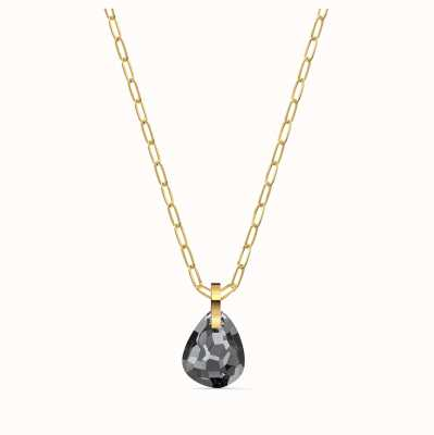 Swarovski T-Bar Pendant | Gold-Tone | Grey Pendant | Necklace 5558340