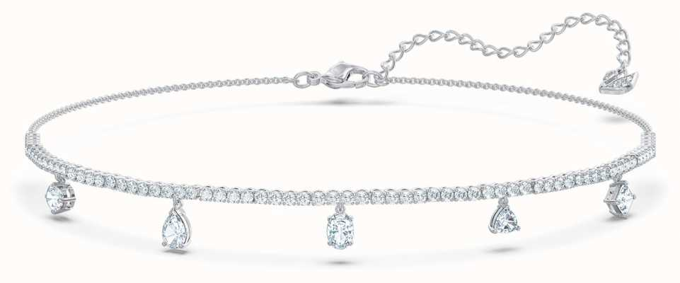 Swarovski Tennis Deluxe | Rhodium Plated | Mixed Choker | White 5562084