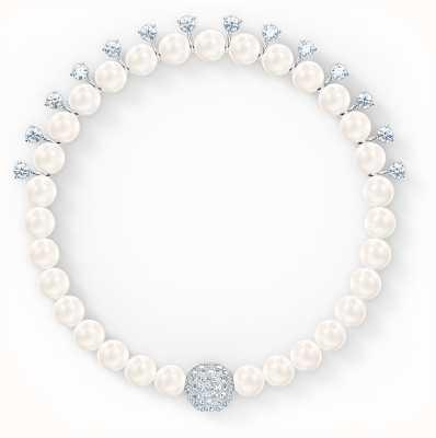 Swarovski Treasure | Pearl Bracelet | Rhodium Plated | White 5563291