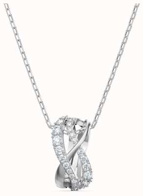 Swarovski Twist | Rhodium Plated | White | Pendant Necklace 5563906