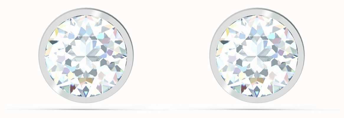 Swarovski Tennis | Stud Pierced Earrings | Rhodium Plated | White 5565604