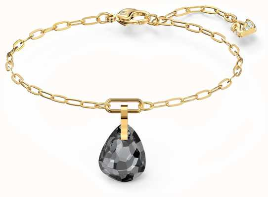 Swarovski T-Bar | Bracelet | Gold-Plated | Grey Pendant 5566149