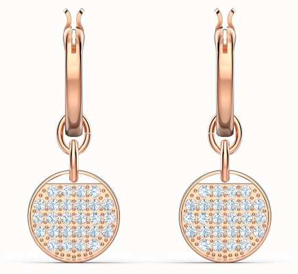 Swarovski Ginger | Rose-Gold Plated | Hoop Pierced Earrings | White 5567528