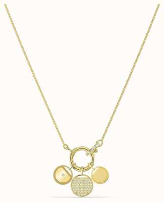 Swarovski Ginger | Gold Plated | Charm Necklace | White 5567530