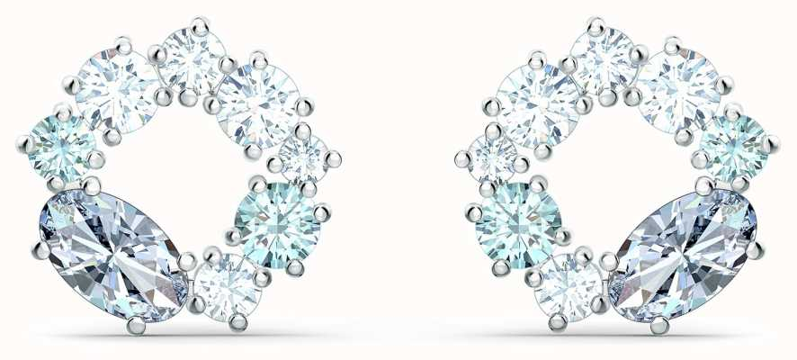 Swarovski Attract | Rhodium Plated | Circle Stud Earrings |Multicolour 5570943
