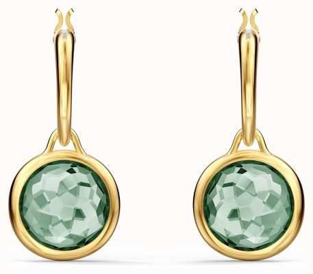 Swarovski Tahlia | Gold Plated | Mini Hoop Earrings | Green 5572587