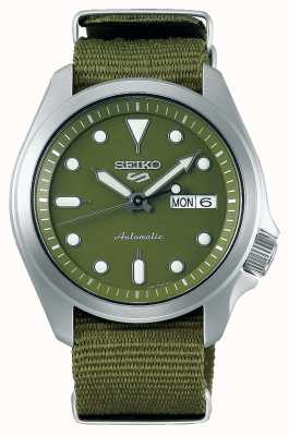Seiko 5 Men's Sports Green Dial Green Nylon Strap SRPE65K1