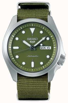 Seiko 5 Men's Sports Green Dial Green Nylon Strap SRPE65K1