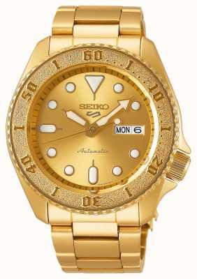 Seiko 5 Sport Men's Gold Tone Bracelet Gold Dial SRPE74K1