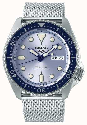 Seiko Mens | 5 Sports | Automatic | Silver Mesh |Silver Dial SRPE77K1