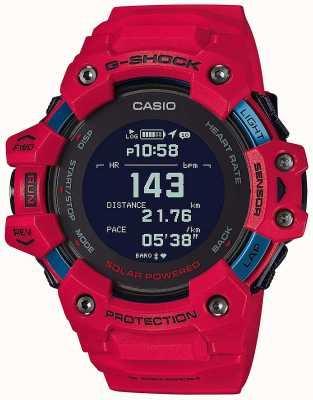 Casio G-SHOCK | G-SQUAD | Heart Rate Monitor | Bluetooth | Red | GBD-H1000-4ER