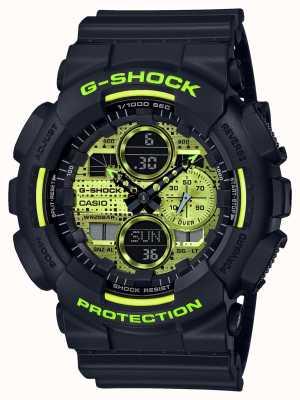 Casio G-SHOCK | Digital Camo | Black Resin GA-140DC-1AER