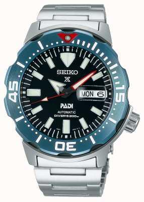 Seiko Men's Prospex   PADI   Stainless Steel Bracelet  Black Dial SRPE27K1