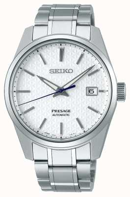 Seiko Presage | Mens | Shrioneri White Dial | Automatic | Sharp Edge Series SPB165J1