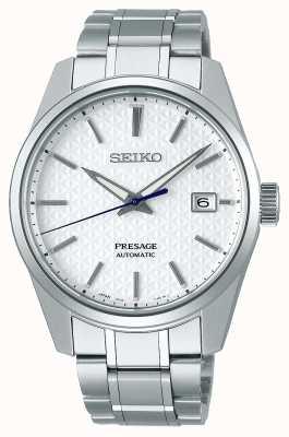 Seiko Presage | Men's | Shrioneri White Dial | Automatic | Sharp Edge Series SPB165J1