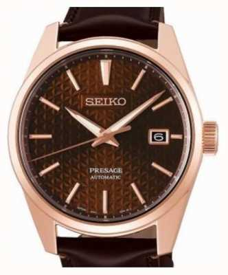 Seiko Presage | Rose | Automatic | Pvd | Brown | Leather SPB170J1