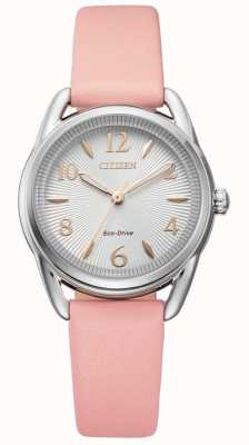 Citizen Ladies Silhouette Eco-Drive Pink leather Watch FE1210-07A