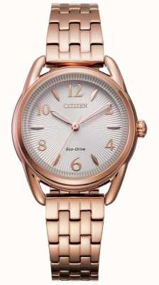 Citizen Ladies Rose Gold Silhouette Bracelet  Watch FE1213-50A