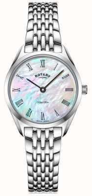 Rotary Ultra Slim Ladies Silver Bracelet Watch LB08010/41
