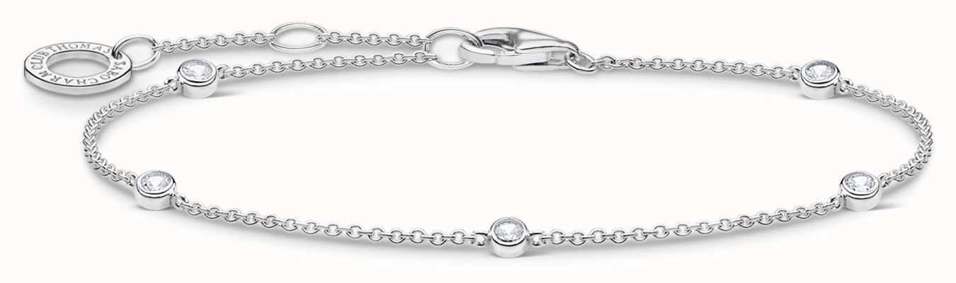 Thomas Sabo Silver Stones Bracelet | 925 Sterling Silver | 16-19cm A1999-051-14-L19V